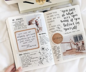 bujo, bullet journal, and inspiration image