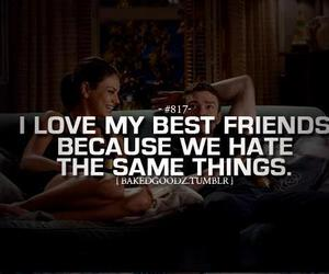 best friends, quote, and hate image