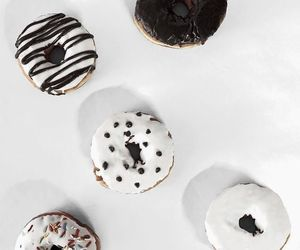food, donuts, and white image