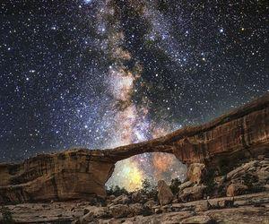 stars, galaxy, and nature image