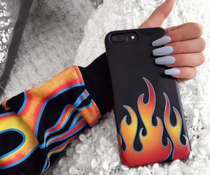 case, flame, and nails image