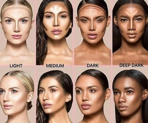 contour, makeup, and skin image