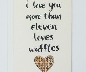 eleven, waffles, and eggo image