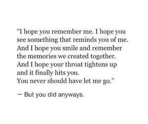 memories, quote, and sad image