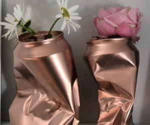 decor, flowers, and rosegold image