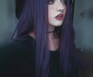 alternative, black, and colored hair image