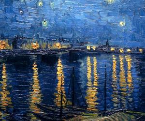 art, header, and blue image