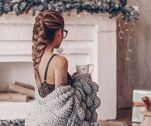 fashion, christmas, and hair image