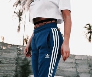 adidas, fashion, and blue image