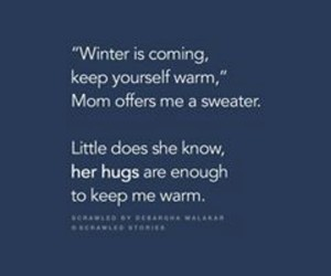 mother, snow, and winter image