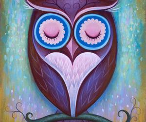 owl, art, and bird image