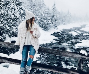 snow, winter, and fashion image