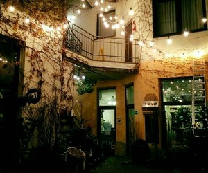 lights, night, and patio image