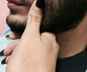 cute, beard, and couple image