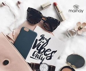 bag, make up, and watch image