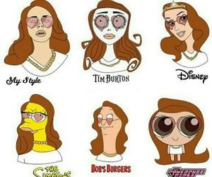 cartoon, meme, and lana del rey image