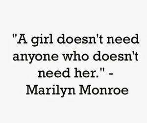 quotes, Marilyn Monroe, and girl image