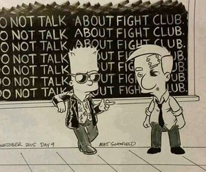 fight club, bart, and simpsons image