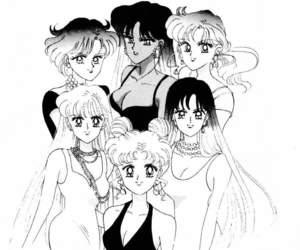 90s, anime, and usagi tsukino image