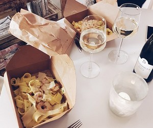 dinner, fashion, and wine image
