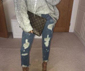 denim, fashion, and sweater image