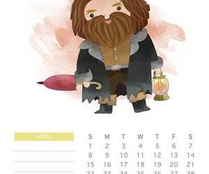 calendar, calendario, and harry potter image