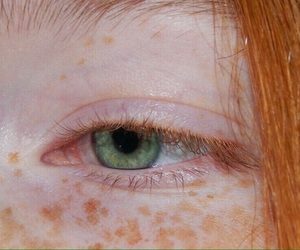 green, red, and eye image
