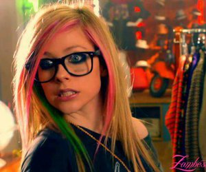 Avril Lavigne, Avril, and what the hell image