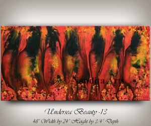 Abstract Painting, modernart, and large wall art image