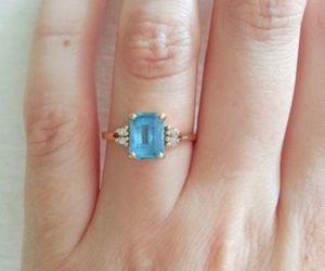 bling, vintage, and aquamarine image