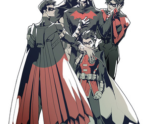 DC, robin, and dick grayson image