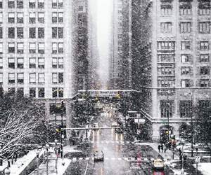 chicago, snow, and white image