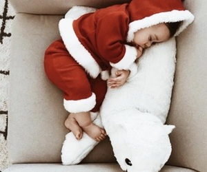 animal, baby, and christmas image