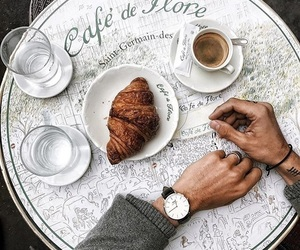 aesthetic, coffee, and croissants image