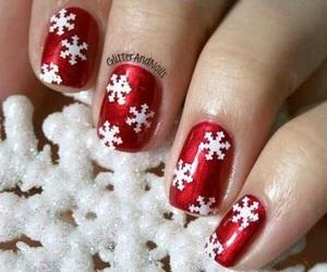 christmas, nails, and nail polish image