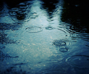 rain, water, and blue image