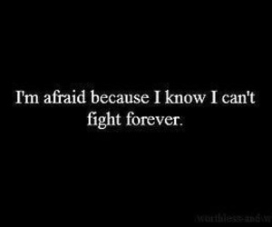 afraid and fight image