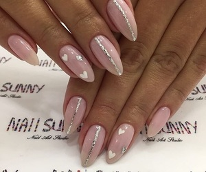 nail art, Nude, and nails image