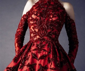 dress, gowns, and red gown image