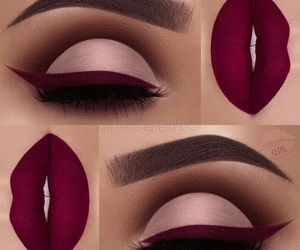 makeup, lipstick, and purple image