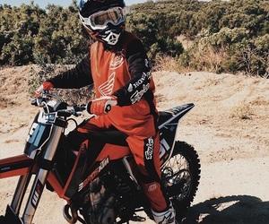 girl, motorcyle, and tomboy image