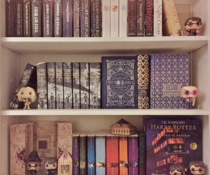 books, bookshelf, and geek image