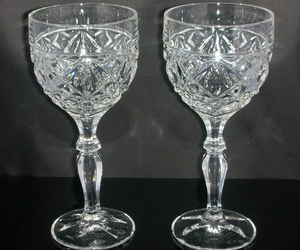 new year's eve, vintage glass, and stemware image