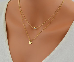 etsy, personalized, and delicate necklace image