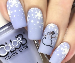 christmas, holiday, and manicure image