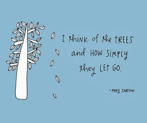 quotes, tree, and let go image