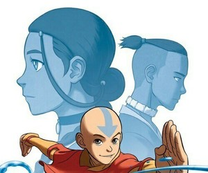 aang, katara, and sokka image