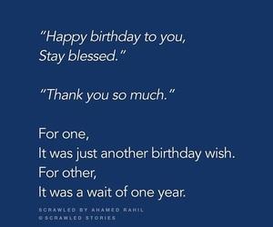 happy birthday, quotes, and love image