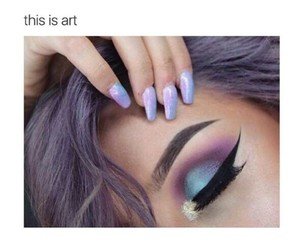 art, makeup, and nails image