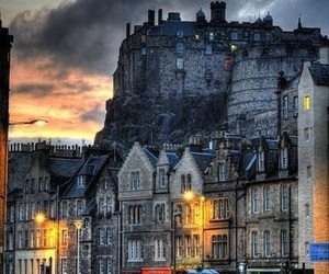 scotland, edinburgh, and castle image